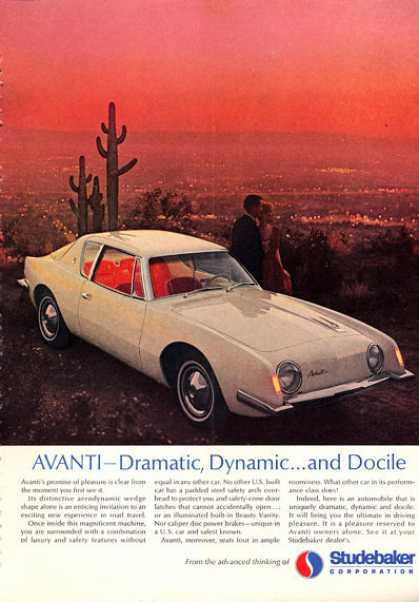 Studebaker Avanti In Desert City Overlook (1963)