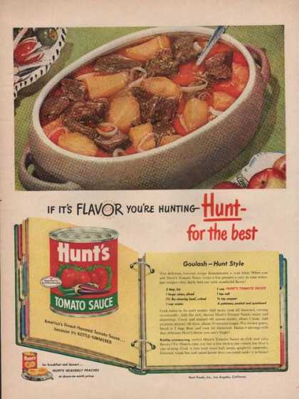 Hunts Tomato Sauce for the Best (1949)