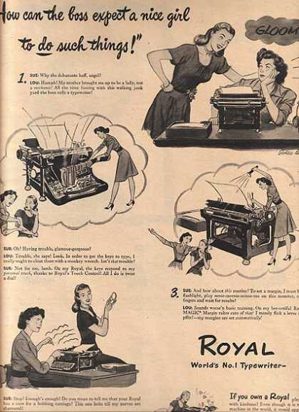 Royal (Royal Typewriters) (1945)