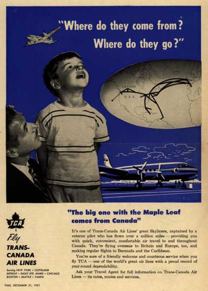 "Trans-Canada Air Lines – ""Where do they come from? Where do they go?"" (1951)"