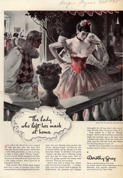 Dorothy Gray – The lady who left her mask at home (1935)