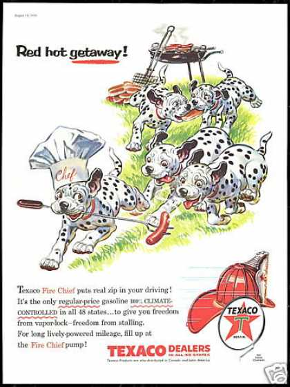 Dalmatian Dog BBQ Hot Dog Texaco Gas (1956)