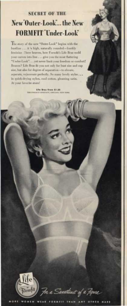 Formfit Bra Pretty Girl Drawing (1953)