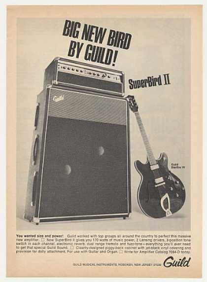 Guild SuperBird II Amp Starfire IV Guitar Photo (1968)