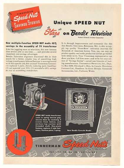 Bendix Television TV Tinnerman Speed Nuts (1951)