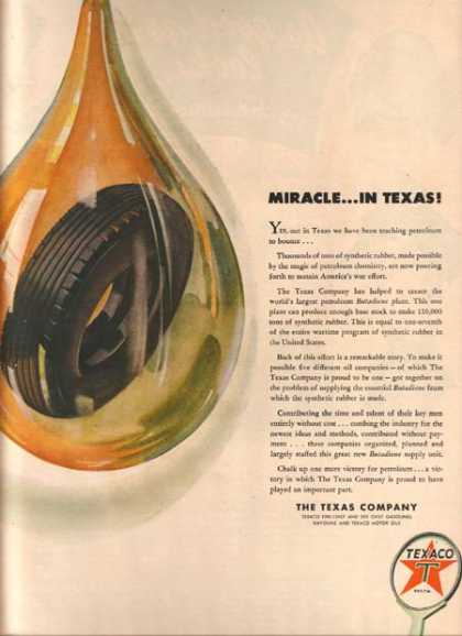 Texaco's Wartime Contributions (1944)