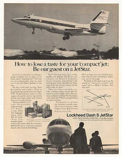 Lockheed Dash 8 JetStar Airplane Aircraft Photo (1969)