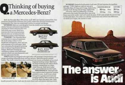 The Answer Is Audi 2 Page Car (1975)