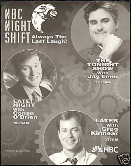 Jay Leno Conan O'Brien Greg Kinnear NBC TV (1994)