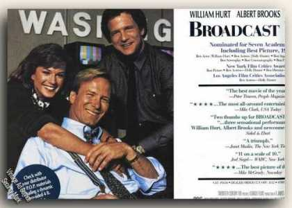 William Hurt Photo Broadcast News Movie Promo (1988)