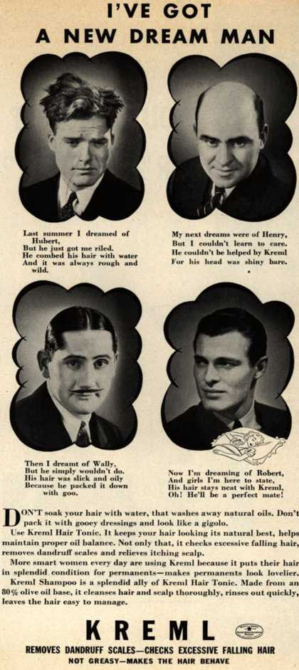 Kreml's hair tonic – I've Got A New Dream Man (1940)