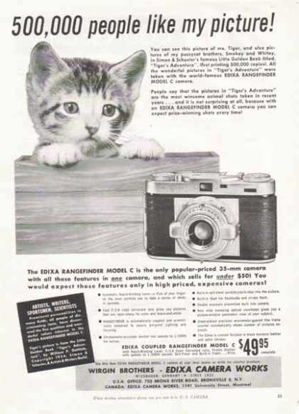 Edixa Rangefinder Model C Camera (1956)