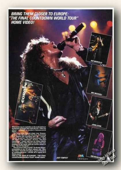 The Final Countdown Photo European Tour Video (1988)