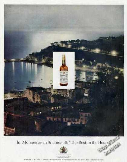 Monte Carlo Monaco Night Photo Canadian Club (1959)