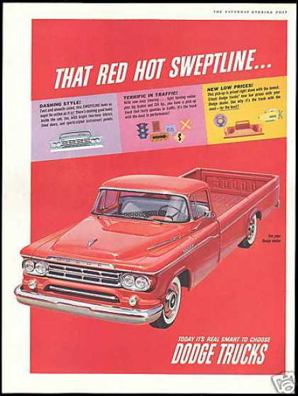 Red Dodge Sweptline Truck Pickup (1959)