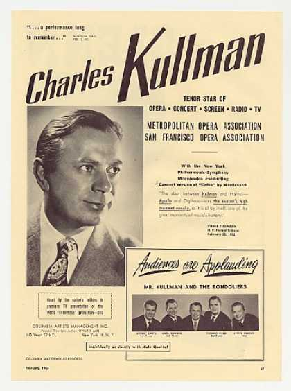 Charles Kullman & The Rondoliers Photo Promo (1953)