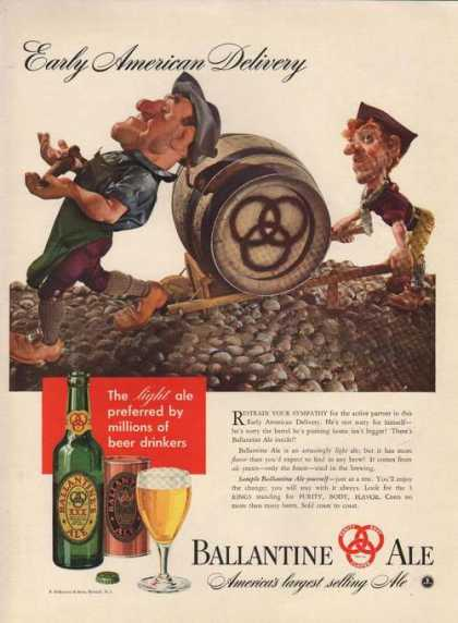 Early American Delivery Ballantine Ale (1941)