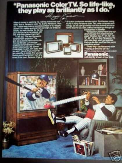 Baseball Reggie Jackson Photo Panasonic Tv (1980)
