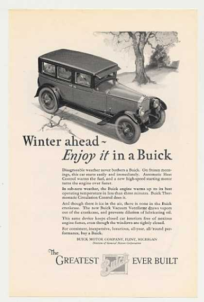 Enjoy Winter in a Buick 4-Door Sedan (1926)