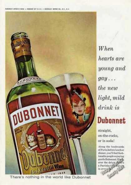 "Dubonnet Wine ""When Hearts Are Young and Gay"" (1966)"