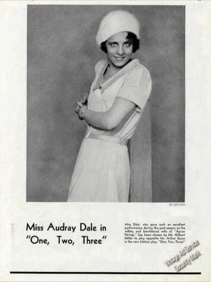 "Audray Dale In ""One, Two, Three"" Print Photo (1930)"