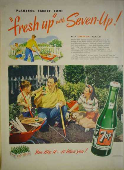 Fresh Up 7 UP Family Gardening Theme (1949)