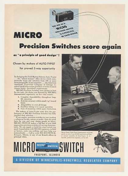 Auto-Typist Machine Micro Switch (1951)