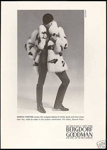 Emeric Partos Fox Fur Coat Bergdorf Goodman (1971)