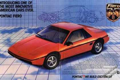 84 Pontiac Fiero Large Centerfold Color (1983)