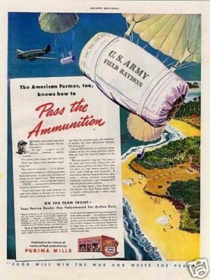 "Purina Mills Ad ""Pass the Ammunition... (1943)"