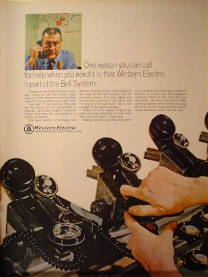 Western Electric Telephone. Part of Bell System (1966)