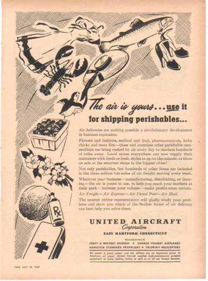 United Aircraft – Shipping Perishables (1949)