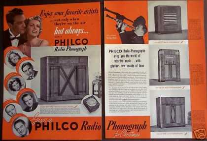 Philco Radio Phonograph Connie Boswell (1939)