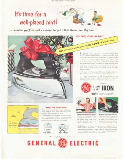 General Electric Steam Iron Chrome (1952)