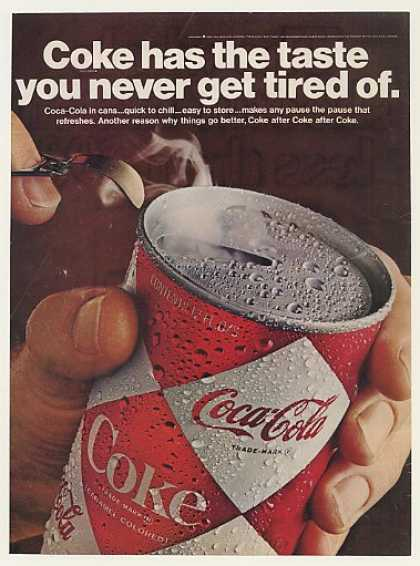 Coke Coca-Cola Diamond Can Taste Never Tired Of (1967)