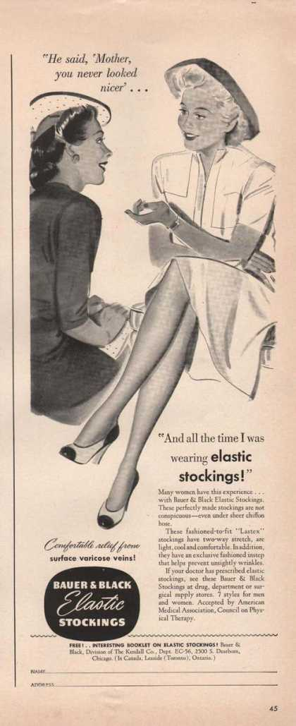 Bauer & Black Elastic Stockings (1942)
