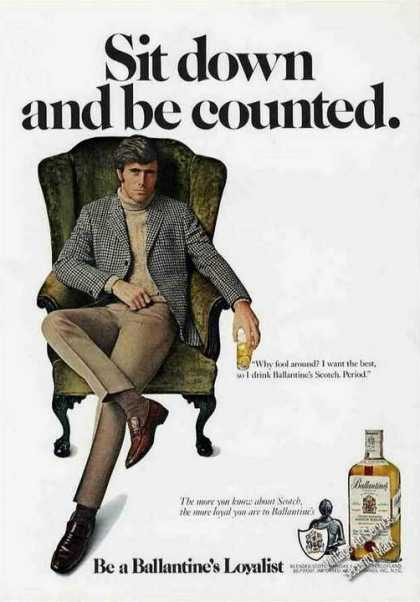 "Ballantine's Scotch ""Sit Down & Be Counted"" (1971)"