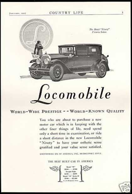 Locomobile Car Model Ninety Victoria Sedan (1927)