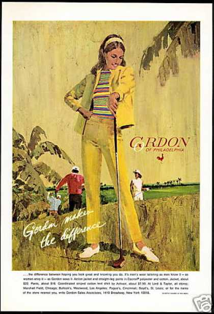 Gordon of Philadelphia Woman Golf Fashion (1969)