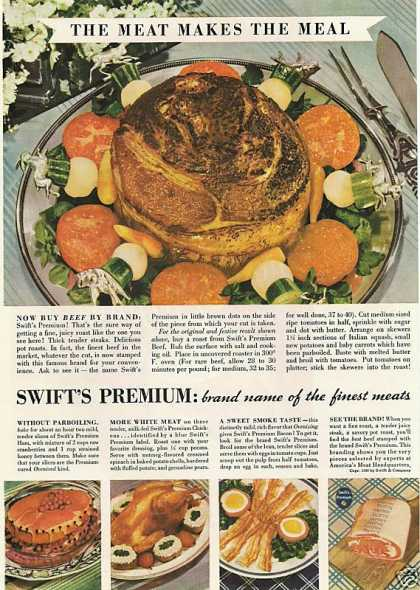 Swifts Premium Brand Name Meat Print (1936)