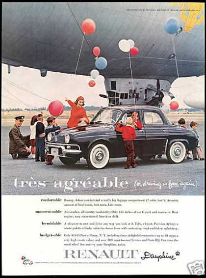 Renault Dauphine Car Blimp Lakehurst NJ (1959)