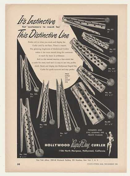 Hollywood Rapid Dry Hair Curlers (1948)
