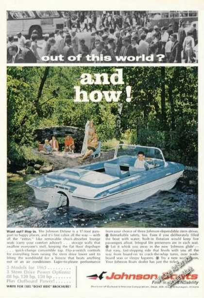 Johnson Deluxe 17 Boat Advertising (1965)