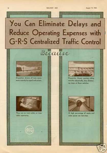 General Railway Signal 2 Page Ad Ctc (1933)