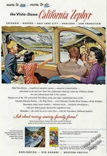 Vista-dome California Zephyr Collectible Train (1957)
