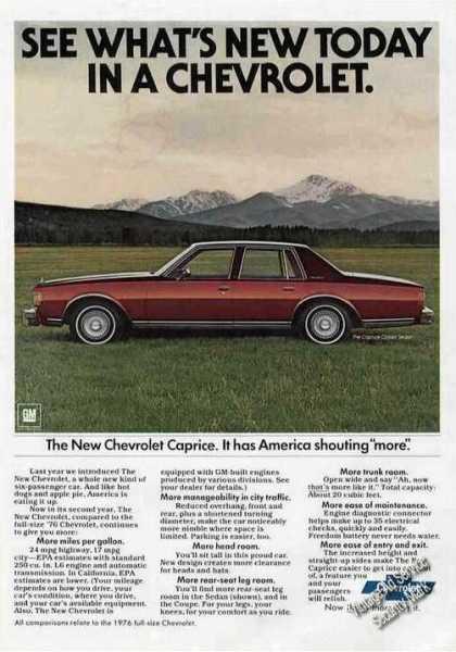 Chevrolet Caprice Classic Mountains Background (1978)