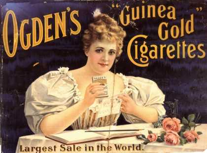 Ogden's, Cigarettes Smoking Glamour, UK (1900)