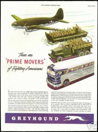 WWII People Transportation Greyhound Bus (1944)