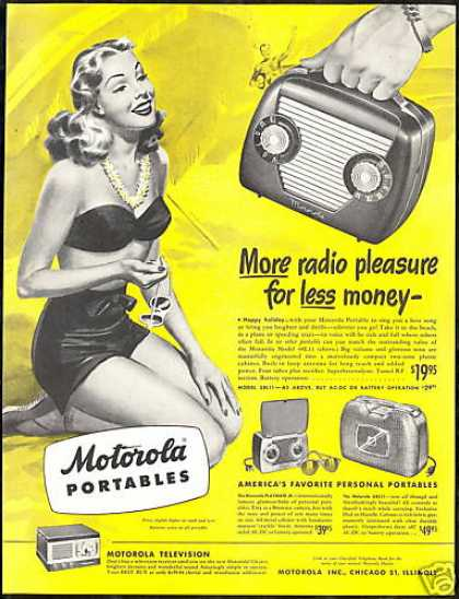 Pretty Woman Swimsuit Motorola Portable Radio (1948)