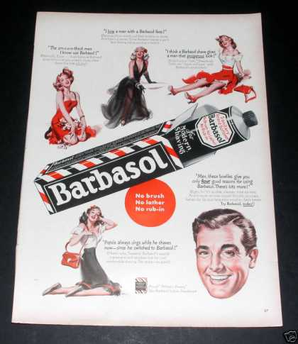 Barbasol Beard Softener, Pinup, Exc (1949)
